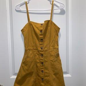 Yellow Jean Dress